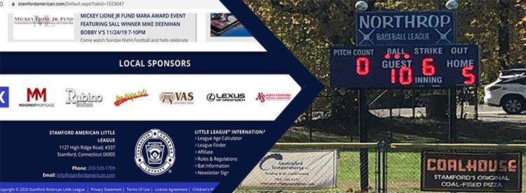 Banner/General Sponsorship for Stamford American Little League