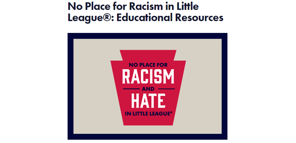 No Place for Racism in Little League