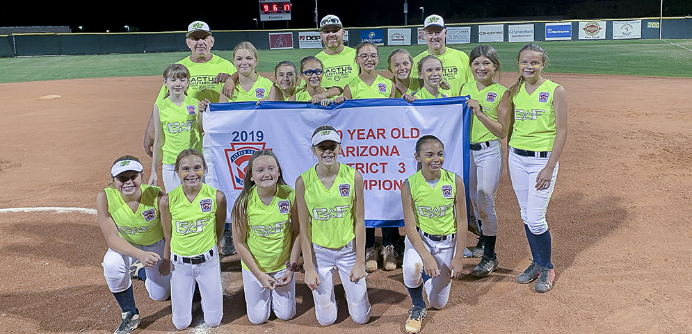 2019 Arizona District 3 9-10-11 Year Old Girls Softball Champions - Cactus Foothills