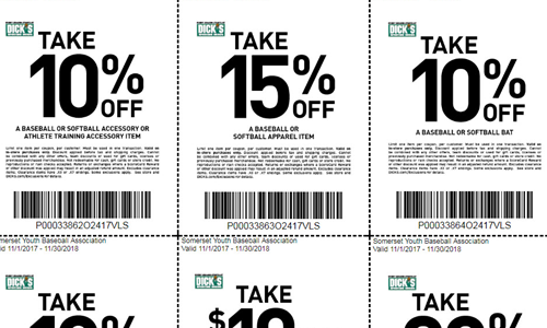 Dick's Sporting Goods SYBA Coupons