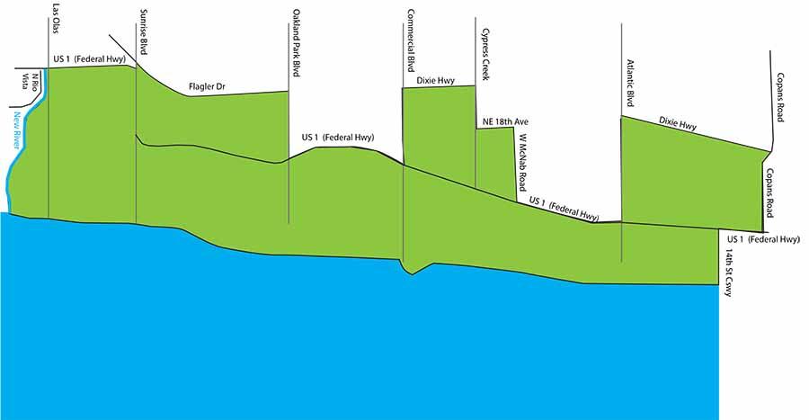 Fort Lauderdale Little League Boundaries