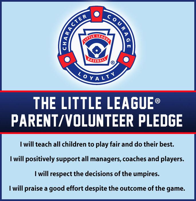 Little League Parent Volunteer Pledge