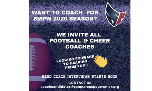 Football and Cheer Coaches
