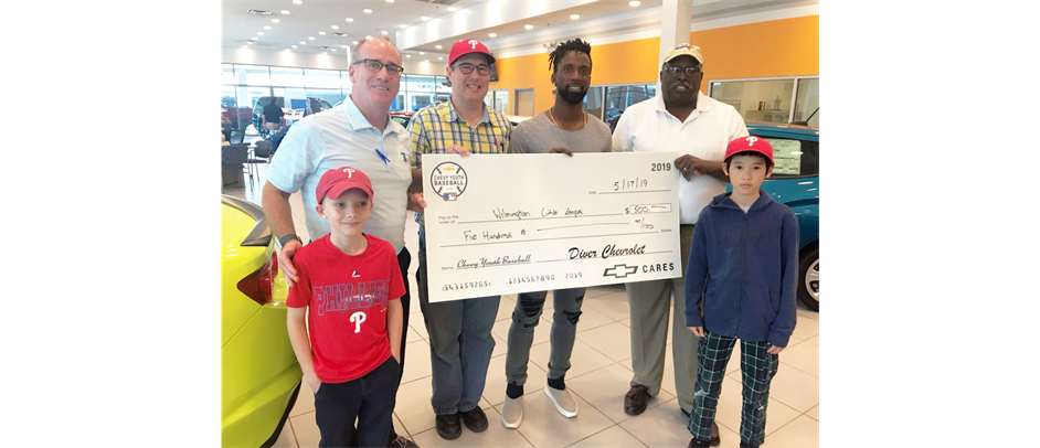 Diver Chevrolet and Phillies Andrew McCutchen donate to WLL!