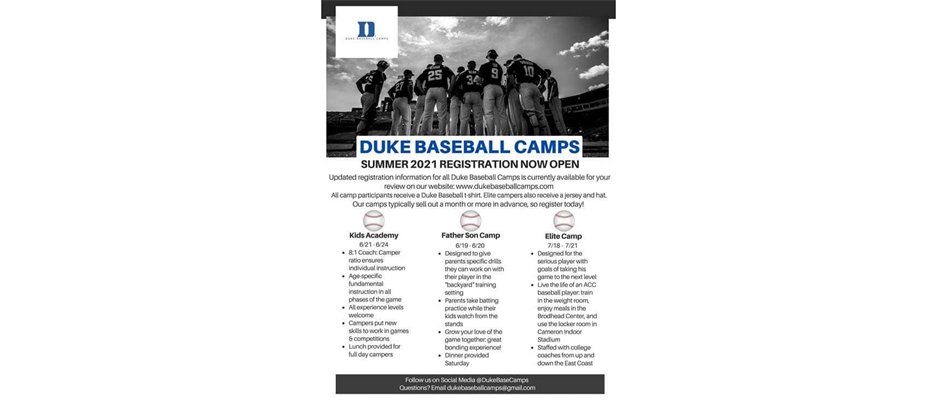 Summer Baseball Camp Opportunity