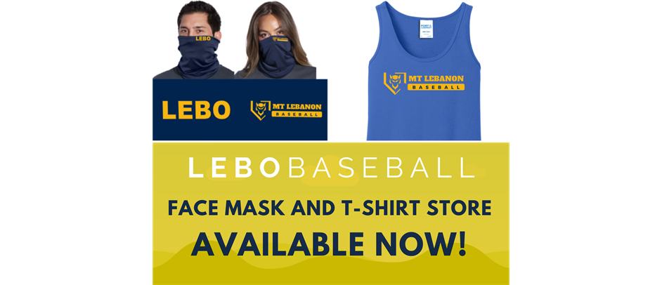 Lebo Baseball Face Mask & T-shirt Store