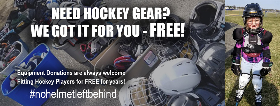 NEED GEAR? Equipment Donations allows us to fit new players for FREE!