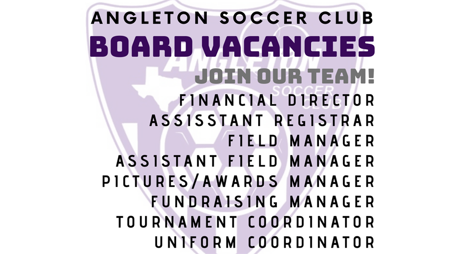 BECOME A BOARD MEMBER!