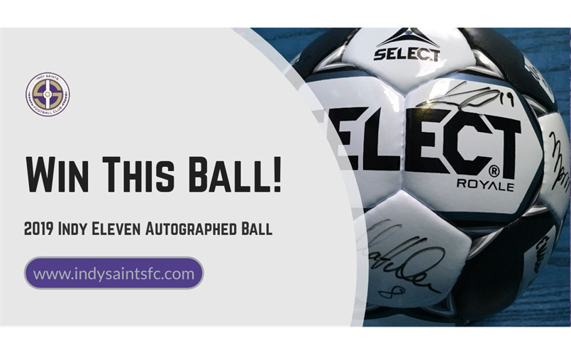 Win Autographed Indy Eleven Soccer Ball!