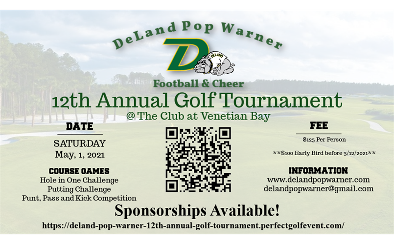 12th Annual Golf Tournament 5/1/21!! Registration Now Open!