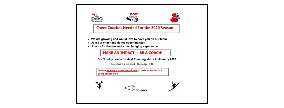 Join Our Cheer Coach Staff