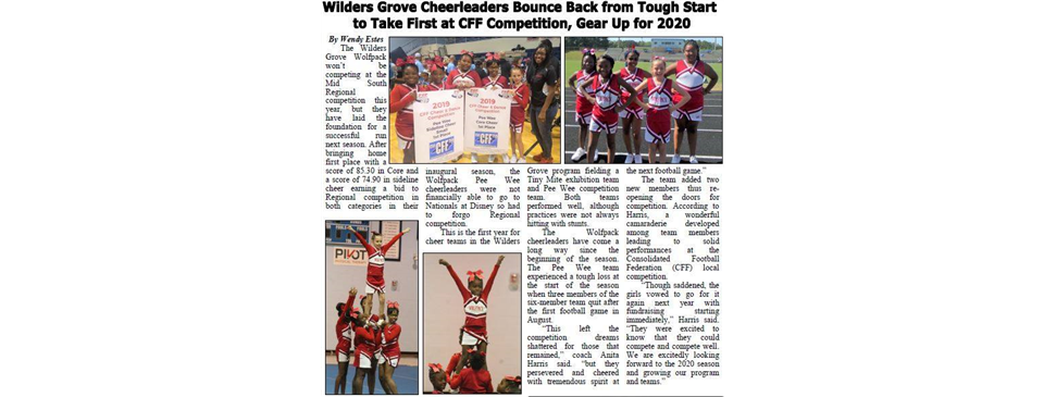 Wilder's Grove Cheer in the News