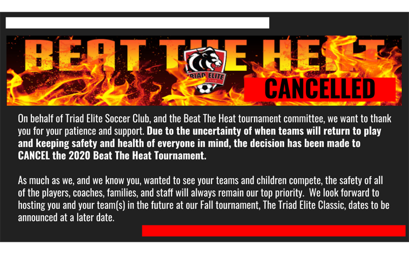 Cancelled: Beat The Heat Tournament 2020