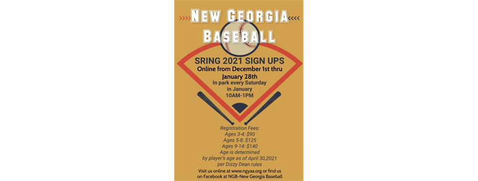 SPRING 2021 REGISTRATION IS CLOSED!