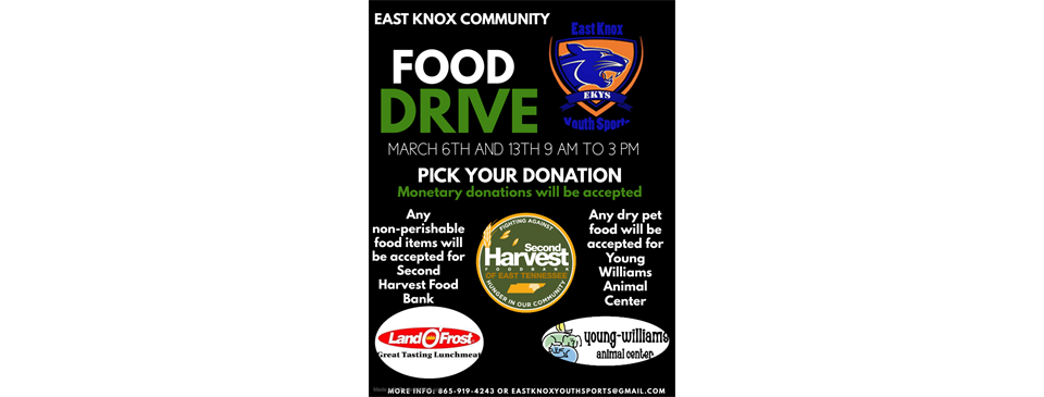 Support Our Food Drive