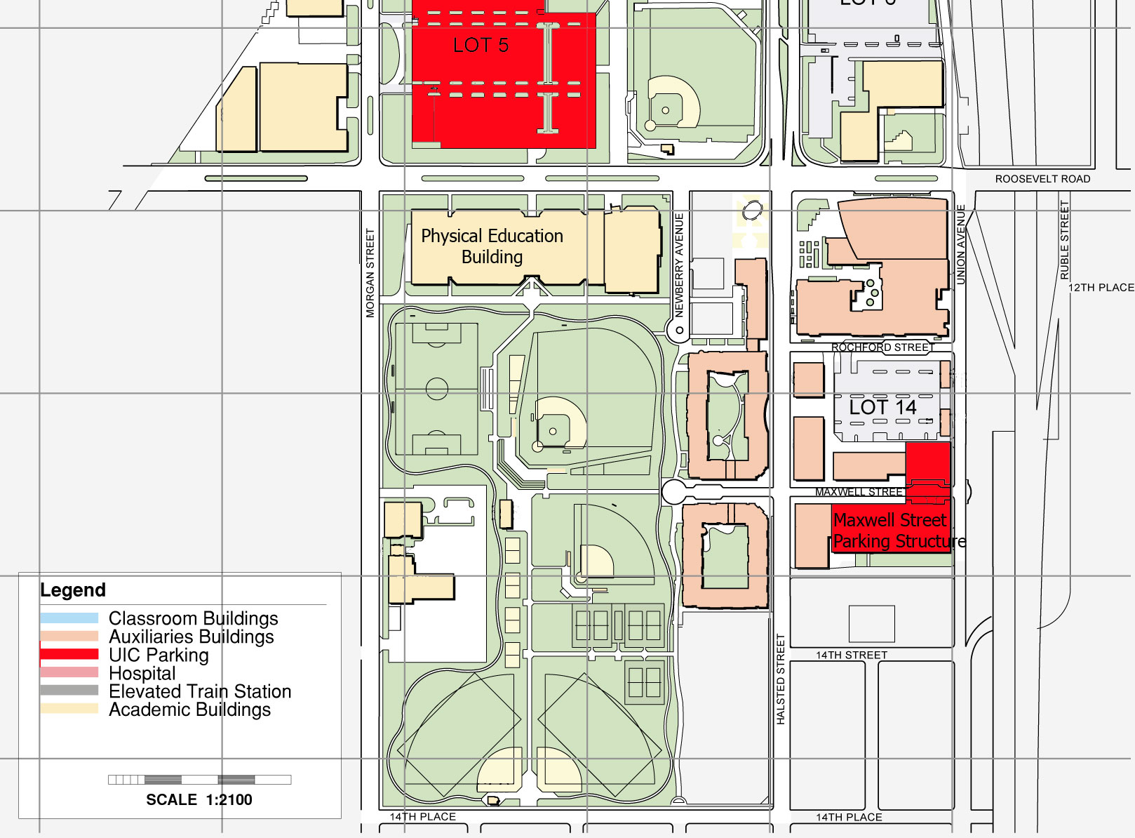 UIC Facilities Map East