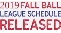 Fall Ball Schedule released