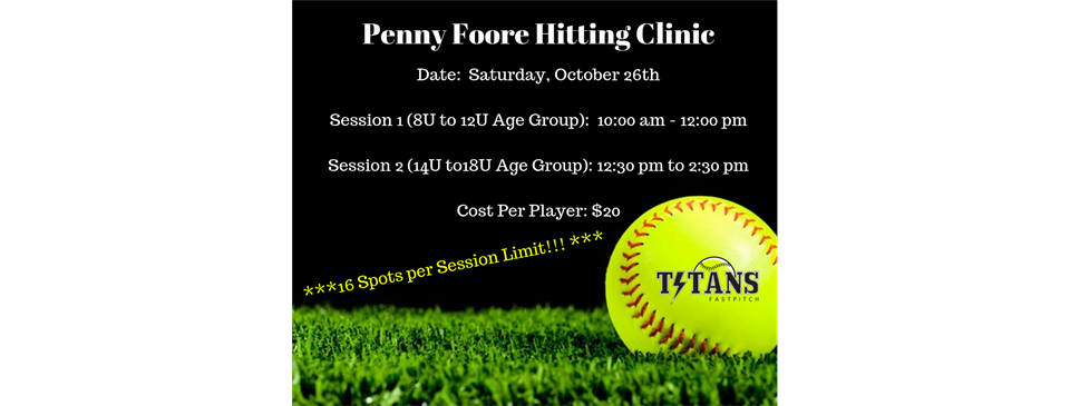 Penny Foore Hitting Clinic