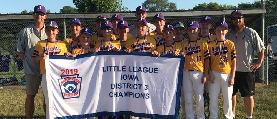 2019 Iowa District 3 Majors Division Champions, Johnston Little League