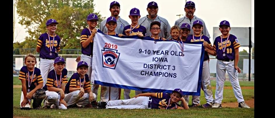 2019 Iowa District 3 10U Division Champions, Johnston Little League