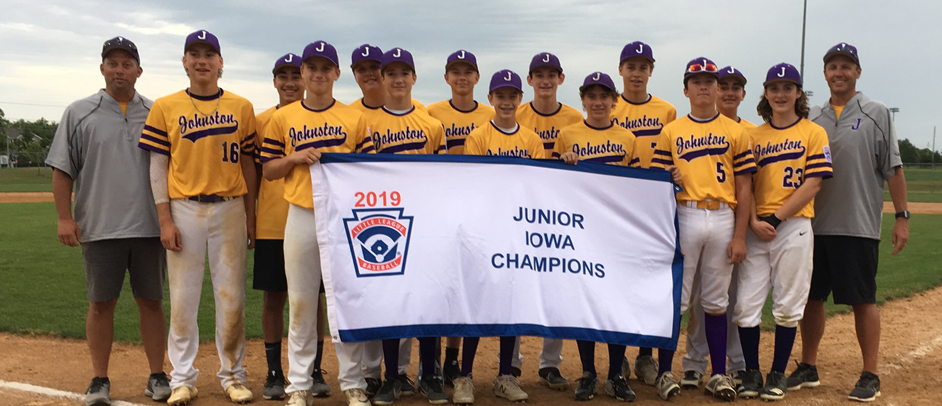 2019 Iowa State Juniors Division Champions, Johnston Little League