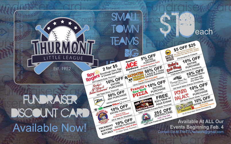 Discount Fundraiser Cards Available NOW!