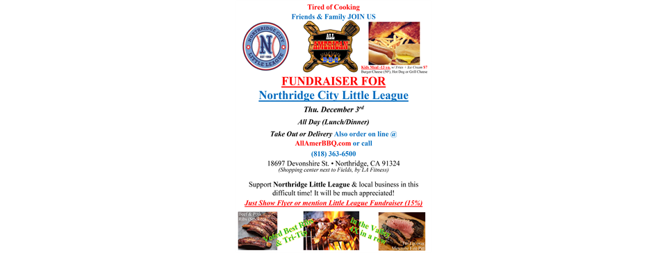 NCLL Fundraiser at All American BBQ