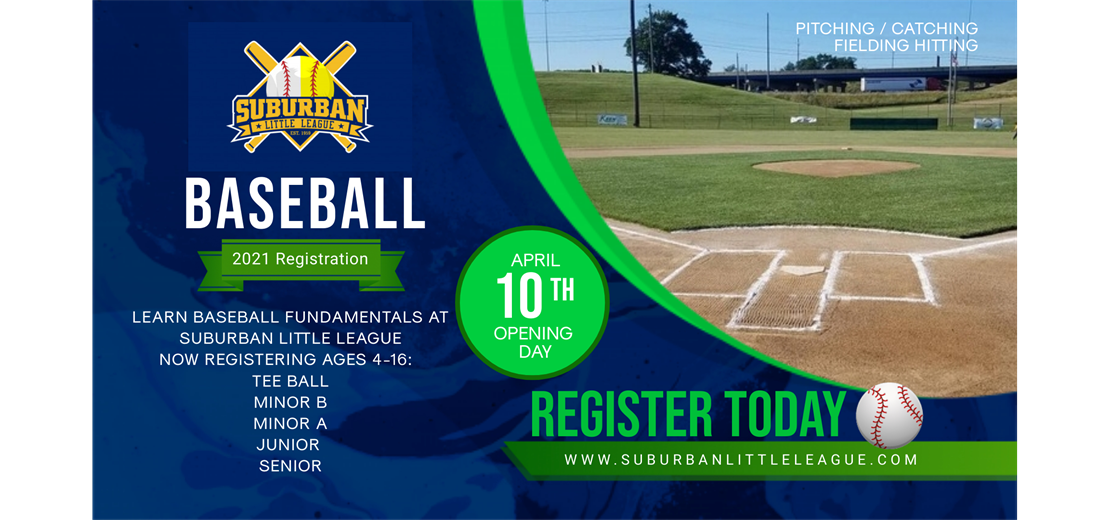 Now Registering Baseball Ages 4-16