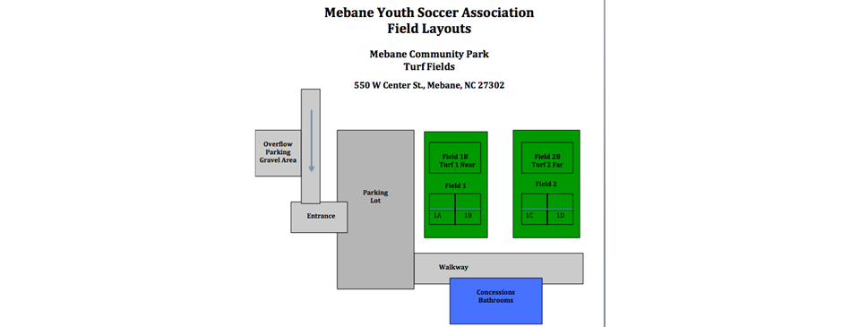 U5 - U8 Games Moved To Community Park Turf Fields for 11/13 and 11/14