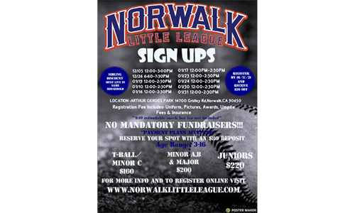 Spring 2021 Signups Dates