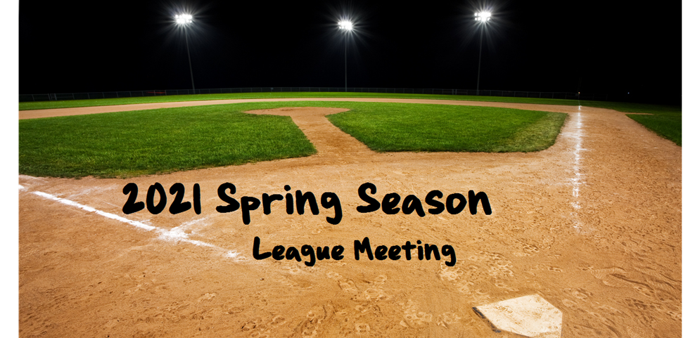 League Meeting - January 19 @ 6:30pm