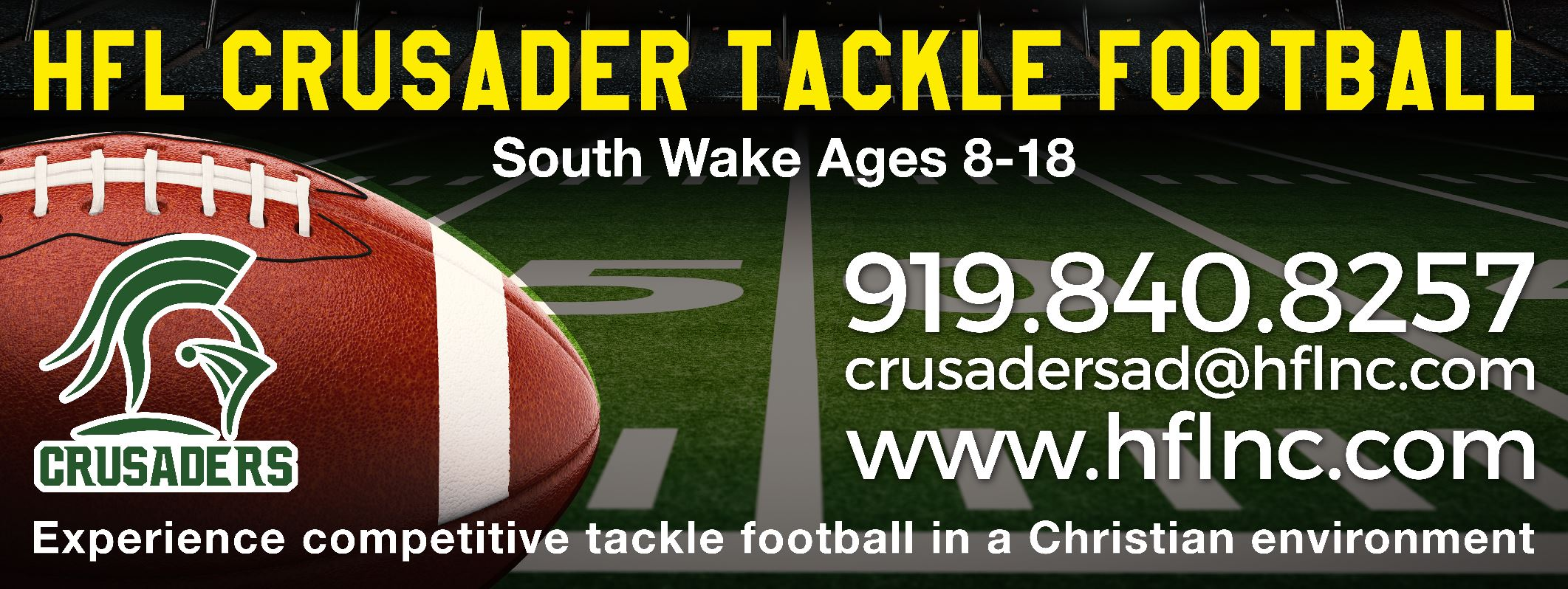 Register for the Fuquay Varina Holly Springs Apex Youth Tackle Football and Varisty Tackle Football Program