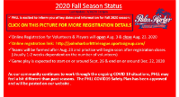 Fall 2020 Registration Opens August 3, 2020