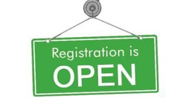 2020 REGISTRATION NOW OPEN