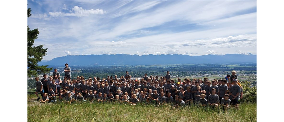 326 wrestlers attend the 2019 camp, pictured on top of Lone Pine Mountain