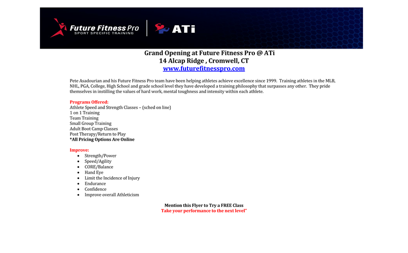 Baseball and Softball specific training at ATI