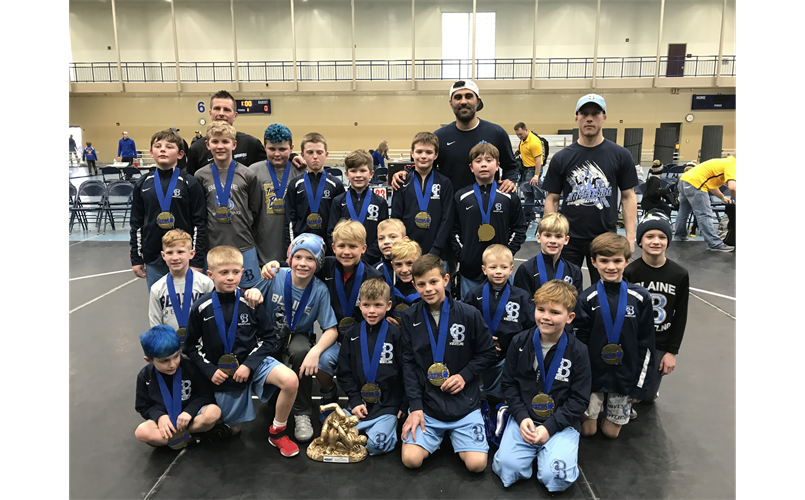 Youth Duals Team Division Champs at STMA brawl