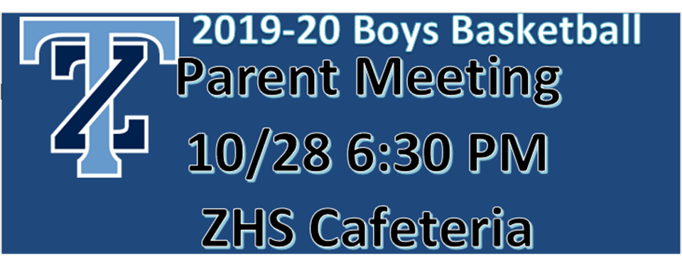 Parent/Player Meeting in Late October