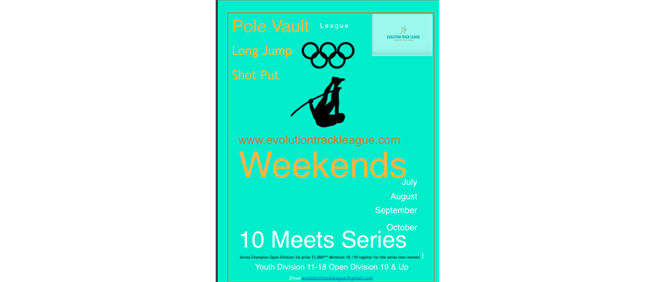 Pole Vault Meet August 29 2020 6pm-9pm