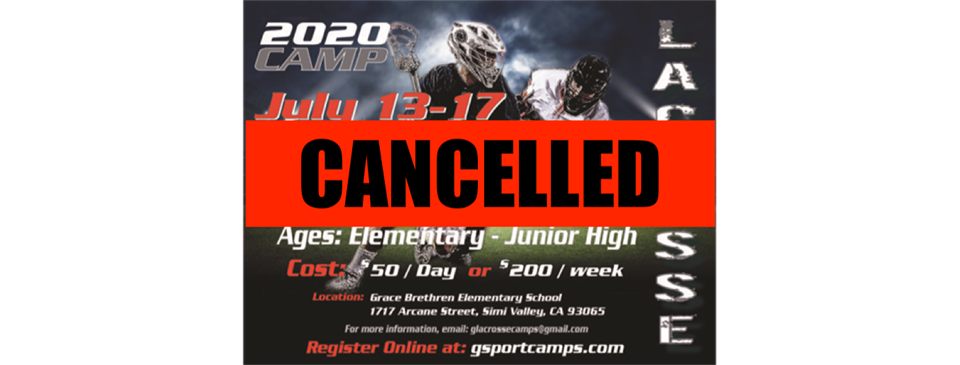 Lacrosse Camp-CANCELLED
