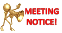 League Membership meeting Monday March 1, 2021