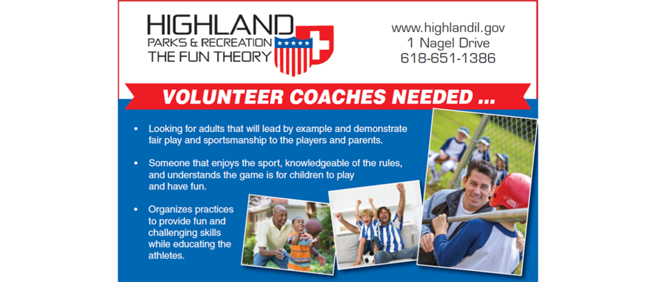Coaches needed! Volunteer to coach today!