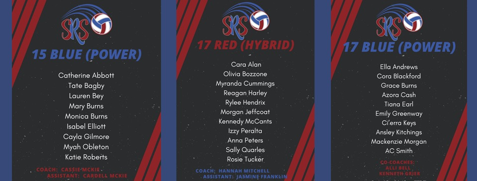 Savannah River Select Teams 2020-21