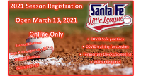 Registration Open Online Only Saturday, March 13, 2021 until April 1, 2021