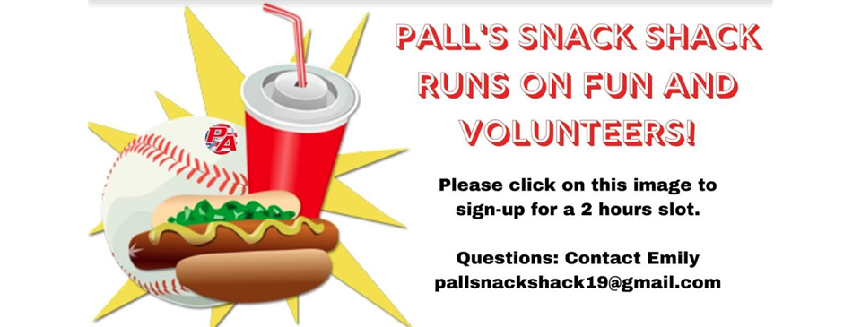 Snack Shack Volunteer's Needed:Click Photo for Sign Ups!