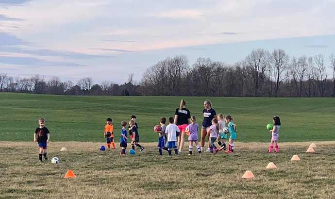 Kickers - 4 and 5 year old kids playing soccer