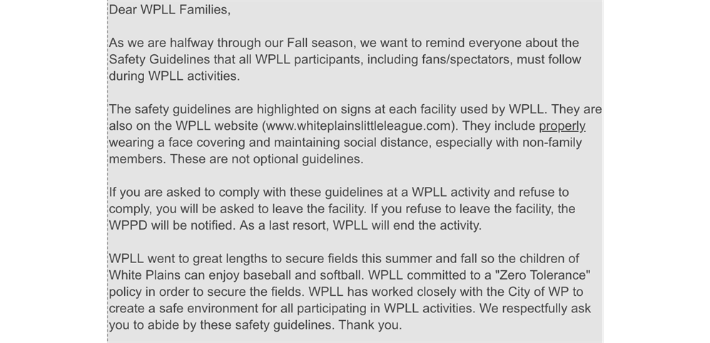 WPLL Safety Guidelines
