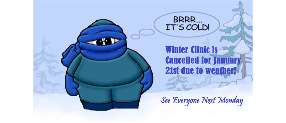 Winter Clinic Cancelled