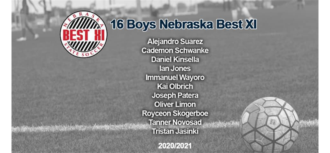 Congratulations Immanuel Wayoro (Midwest Premier Academy NPL 05B) and Joseph Patera (Midwest Premier Academy Blue Lincoln 05B) for making 16 Boys Nebraska Best XI.