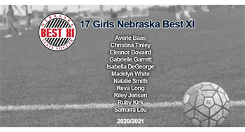 Madelyn White & Ruby Kirk (MPA NPL 04G) for being selected for Nebraska State Soccer Best XI